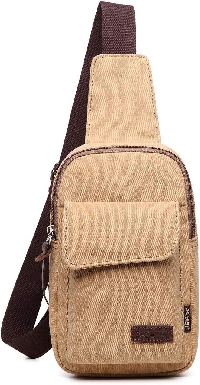 FANDARE Brusttasche Herren Schultertasche Sling Bag Rucksack 7.9 inch iPad Sling Bag Segeltuch Tasche Umh/ängetasche Sporttasche f/ür Wandern,Abenteuer,Sport Reisen und Joggen