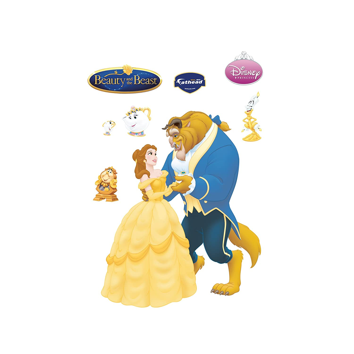 Amazon.com: Disney Beauty and the Beast Wall Graphic: Home & Kitchen