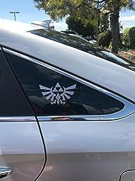 Amazon Com Legend Of Zelda Triforce 6 Quot Silver Car