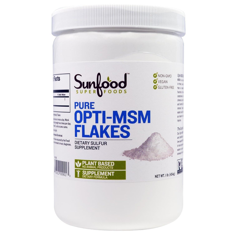 【海外直送品】Sunfood, Pure Opti-MSM Flakes - 1 lb (454 g) B074WF6P9H