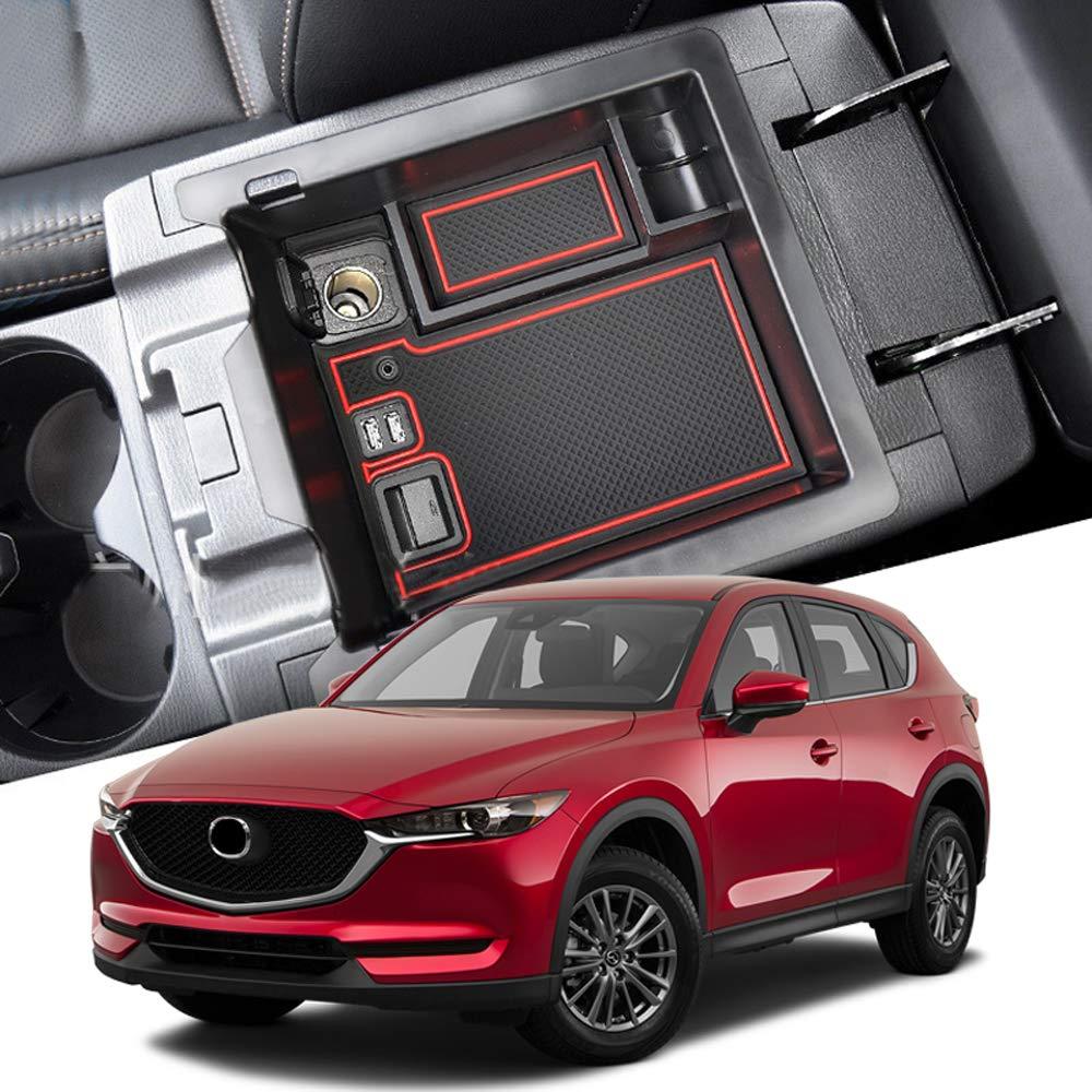 HIGH Flying Car Center Armrest Console Glove Storage Box Tray Organizer for Mazda CX-5 2018 2019
