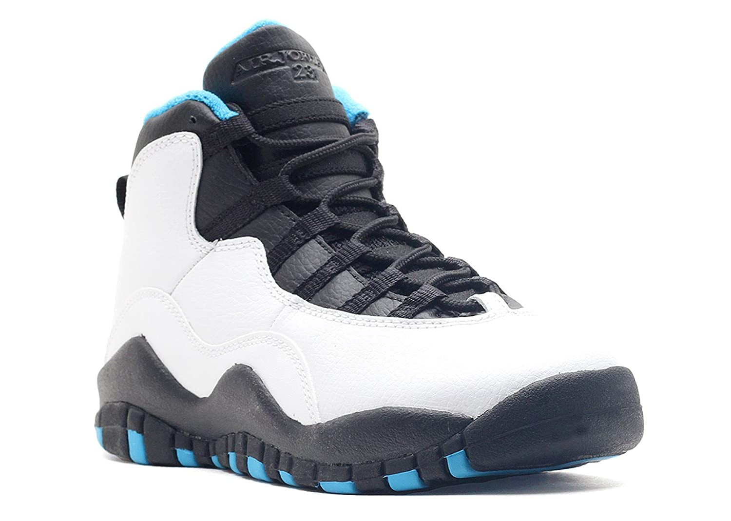 the latest 15716 af45c Amazon.com   Nike Air Jordan 10 Retro Kids Grade School White Black Dark  Powder Blue 310806-106 (SIZE  5.5Y)   Shoes