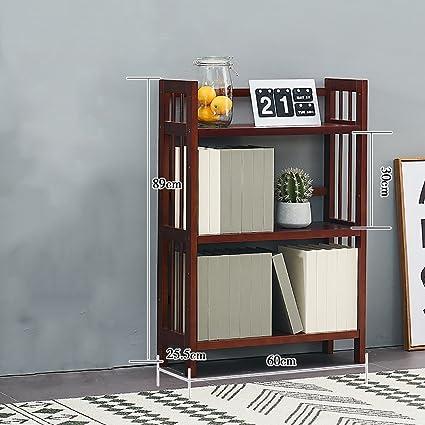 SJ Libreria In Legno Per Soggiorno Libreria Domestica Libreria A Più ...