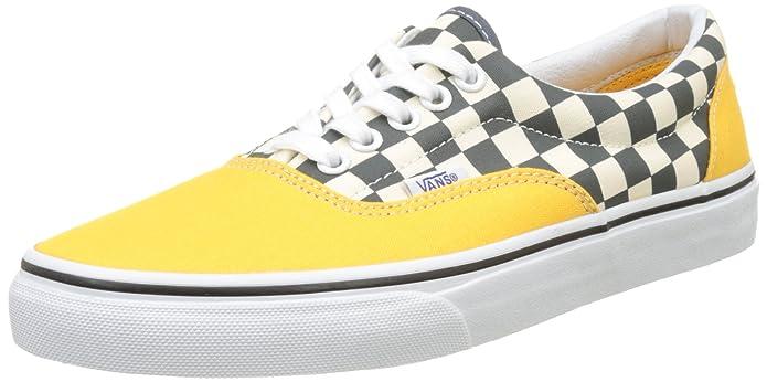 Vans Era Sneakers Grau-Weiß Kariert/Gelb Größe EU 40,5