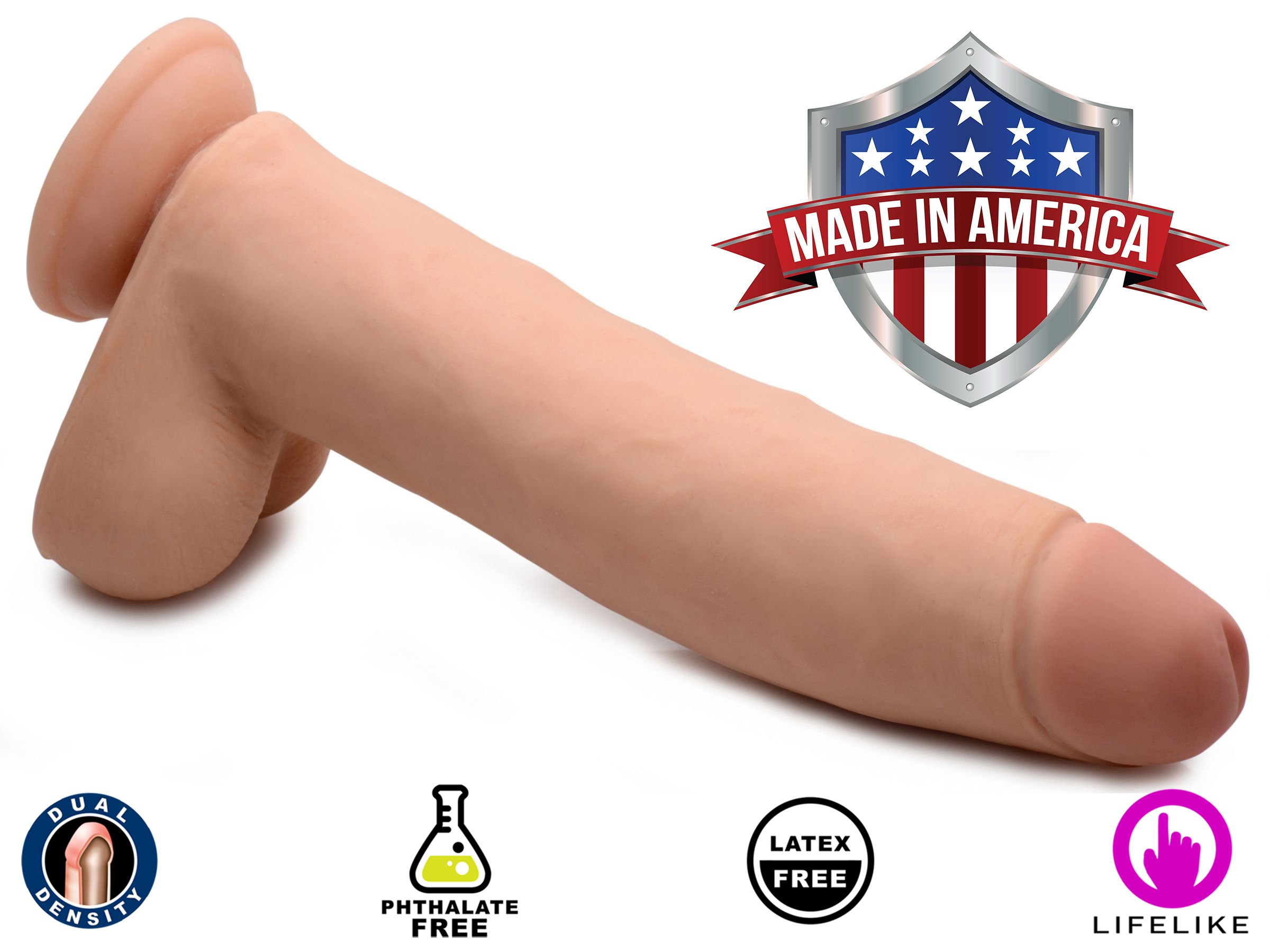 TrueTouch Nathan Skintech Realistic Dildo, 11 Inch by True touch