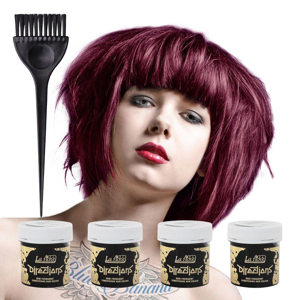 La Riche Directions Colour Hair Dye 4 Pack (Dark Tulip)