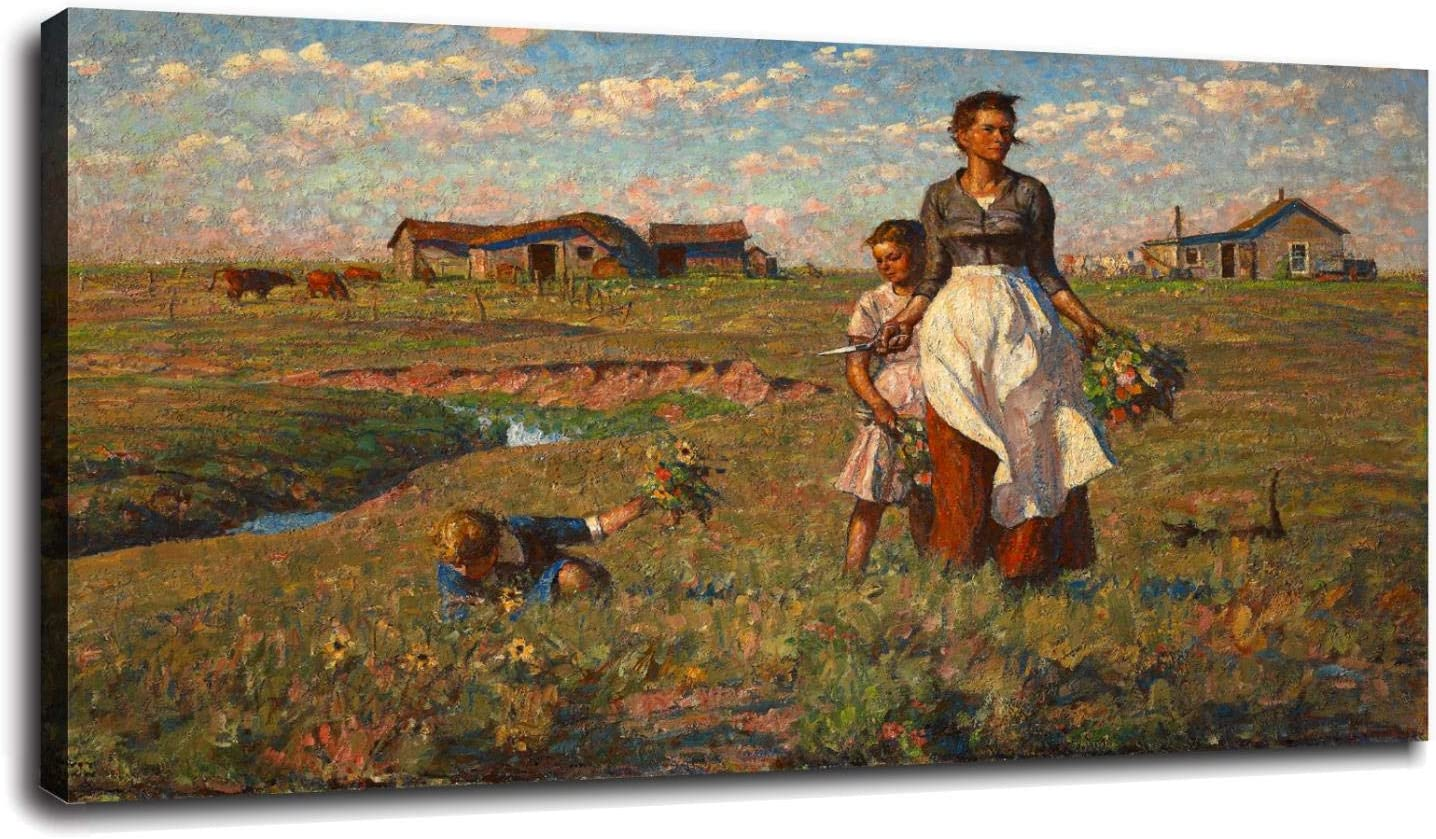 The-Prairie Canvas Prints My-Garden Poster Wall Art For Home Office Decorations With Framed 20