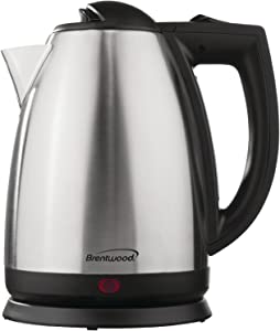 Brentwood KT-1800 2L Stainless Steel Cordless Electric Kettle