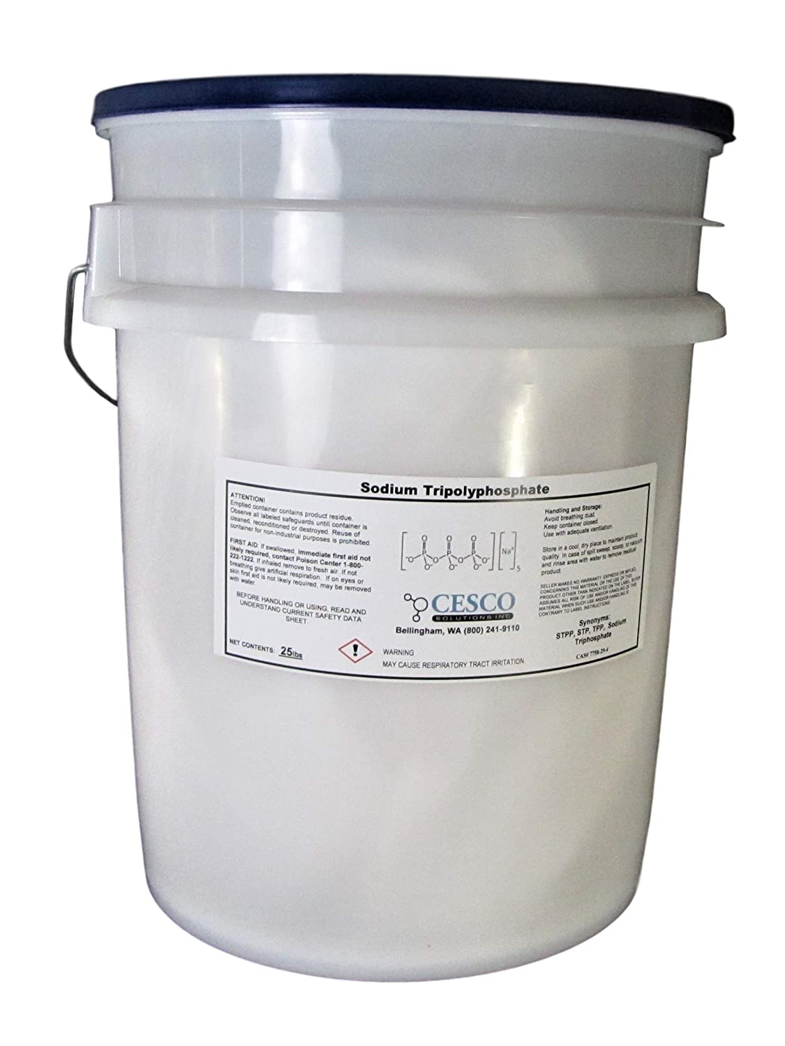 Sodium Tripolyphosphate STPP TPP STP Super Cleans Bulk Pack Tech Grade Light Dense (25 lbs)