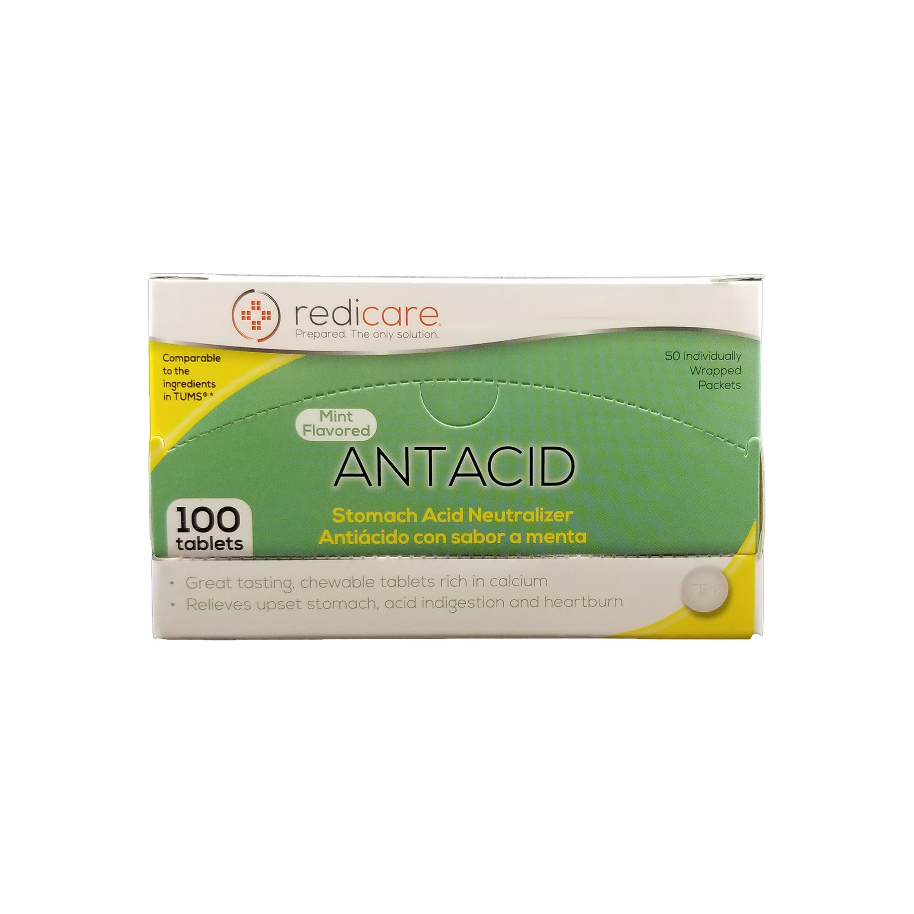 Mint Flavored Antacid Travel Packets with dispenser box - Great for First Aid Kit and workplaces