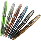 6 PCS Jinhao 992 Plastic Fountain Pen Set