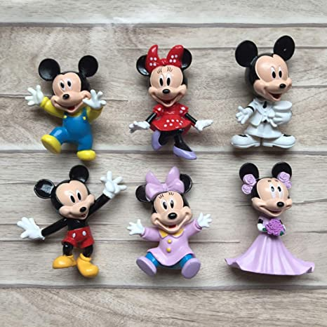2019 Mickey Minnie Mouse and Friends Action Figure Figurines Topper Decor Toys