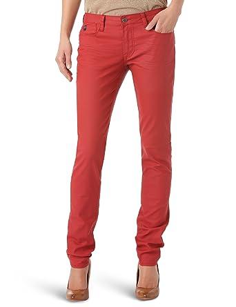 209fac4eba Le temps des cerises 316 Basic - Jean - Slim - Enduit - Femme - Rouge