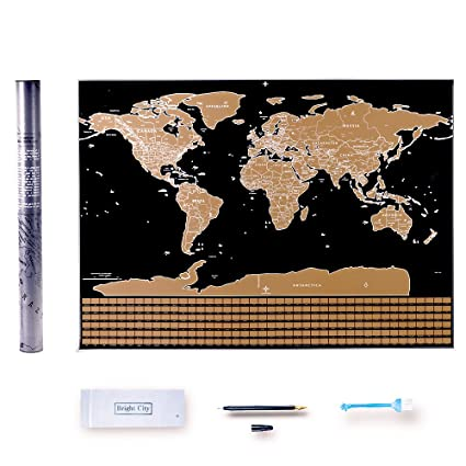 Amazon off world map poster greforest 2017 new design travel off world map poster greforest 2017 new design travel tracker map with us states outlined gumiabroncs Gallery