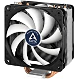 Arctic Freezer 33 Plus – Semi passive Tower CPU cooler for Intel 115X/2011-3 and AMD AM4 with 120 mm PWM Fan, Silent high performance cooler – Grey/Black