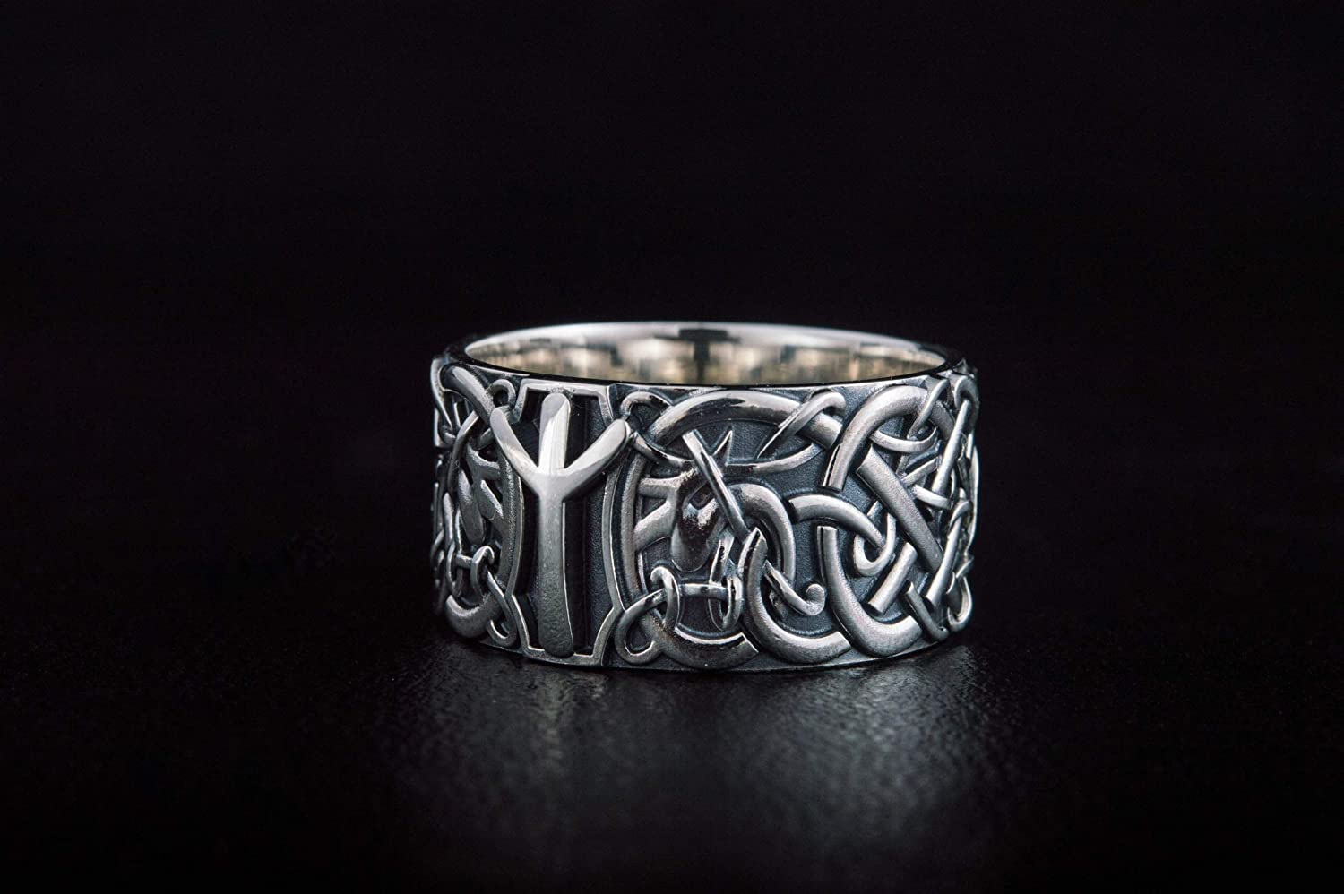 Runic Silver ring with runes silver ring Family amulet ring  Protection amulet Pinky ring silver index ring silver thumb ring Germanic ring