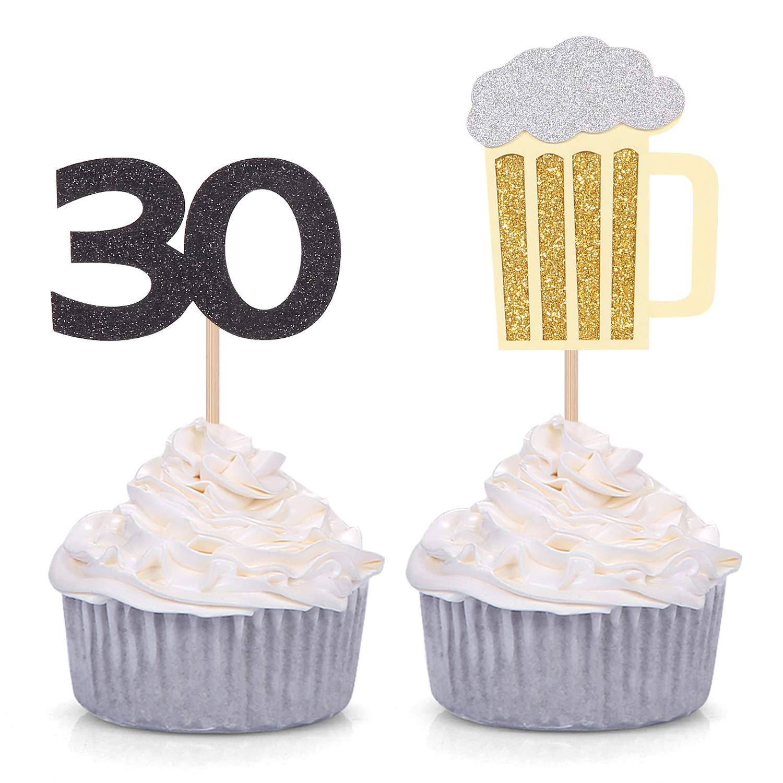 Juego de 24 tazas de cerveza y decoraciones para cupcakes de ...