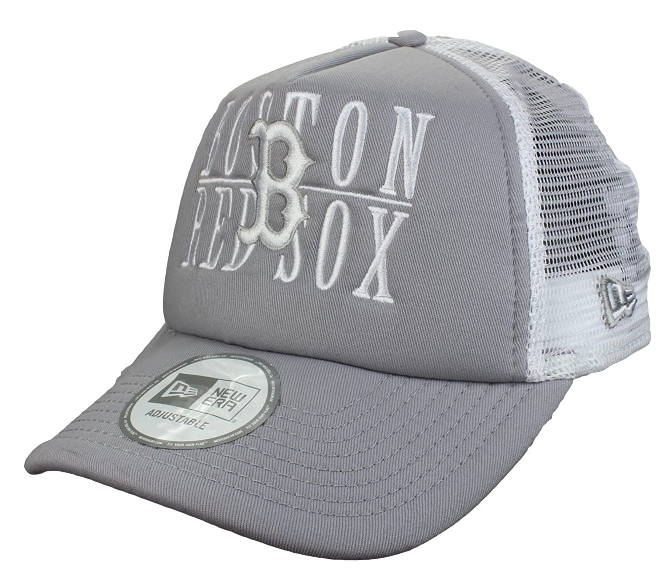 8a385cb9 New Era Boston Red Sox 9Forty Adjustable Trucker Cap