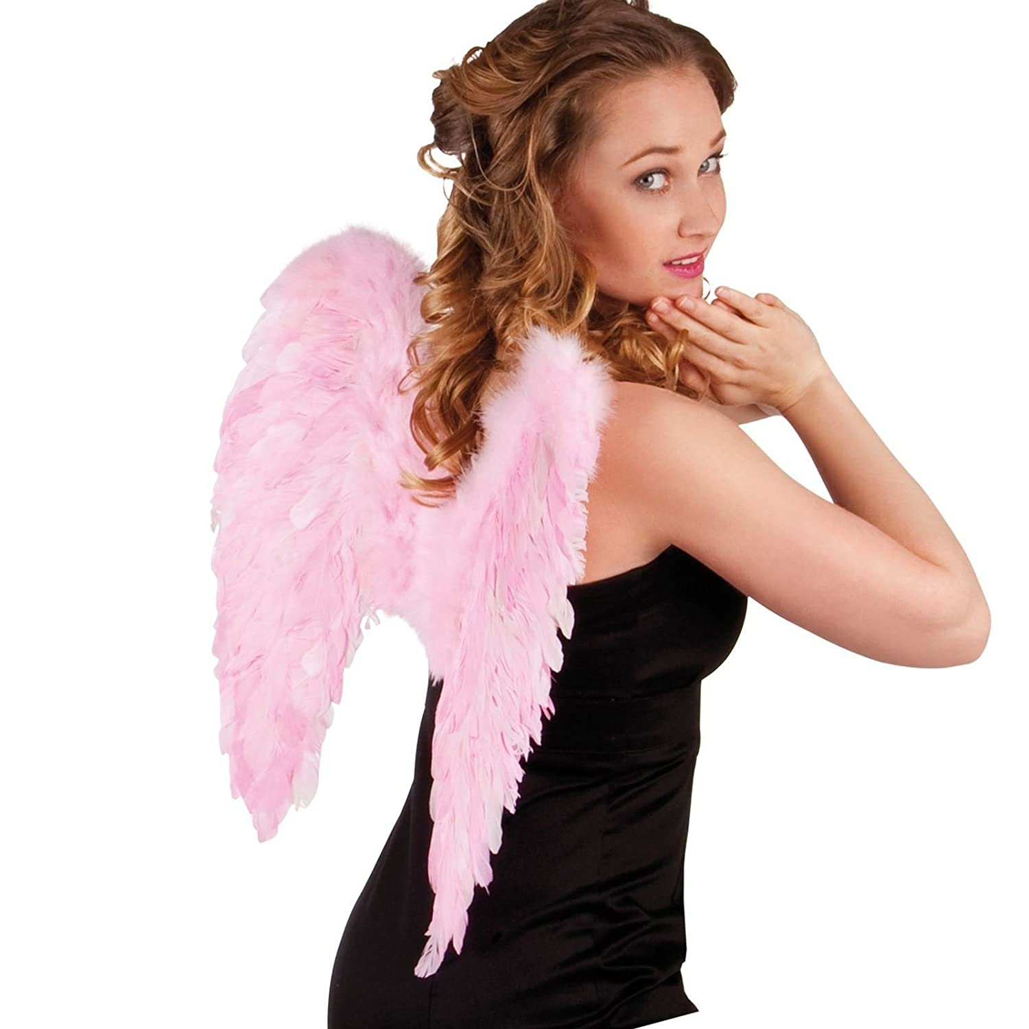 Baby Pink Feather Angel Wings folded 50 x 50cm Fancy Dress Up Girls Womens Costume Fairy Carnival Party Accessory by BOLAND BV