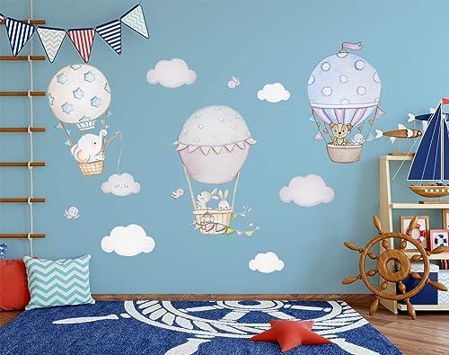 Heißluftballon Wandtattoo Kinderzimmer Elefant Ballon ...