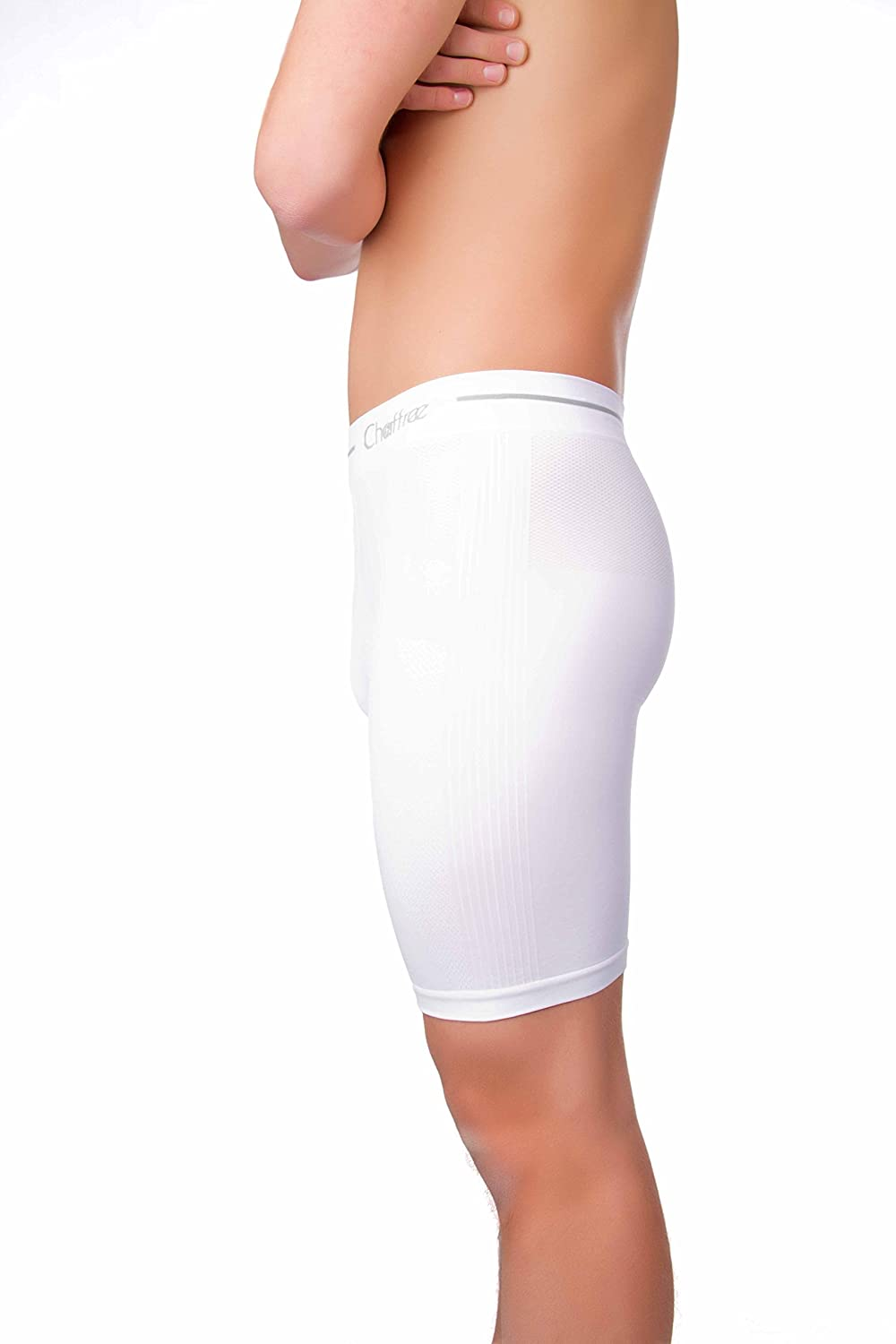 Chaffree Mens Briefs Underpants, Moisture Wicking, Sweat and Chafing Control, Stretchy Seamless, Traditional High Waist Ultra Comfortable Pants, Sports Gym Exercise Underwear 5 Pack Short & Long Leg