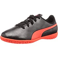 Puma Unisex's Rapido It Jr Black-nrgy Red Ag Football Shoes