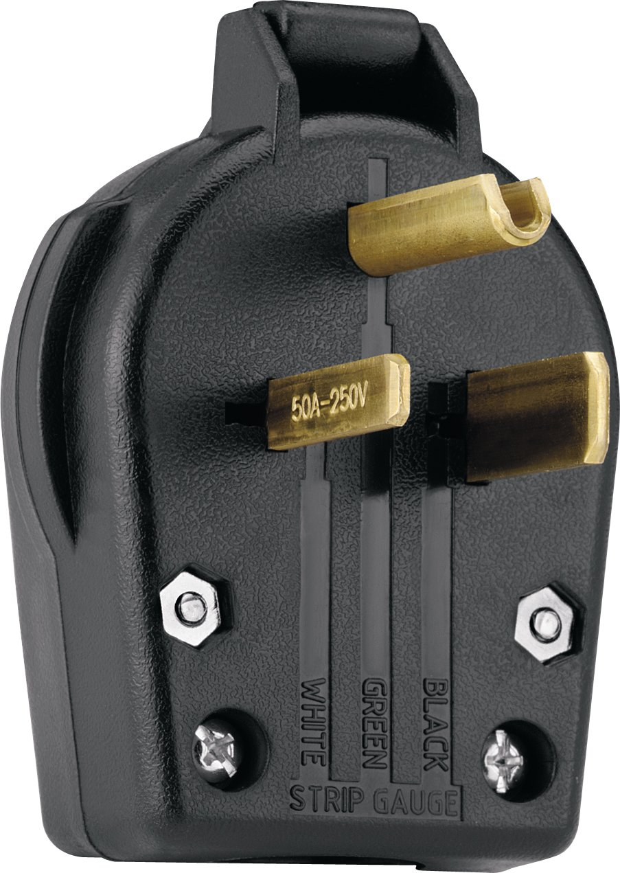 Eaton S42 Sp Commercial Grade Angle Vinyl Power Plug With 30 50 Amp Ac Receptacle Wiring 250 Volt 6 Nema Rating Black Electric Plugs
