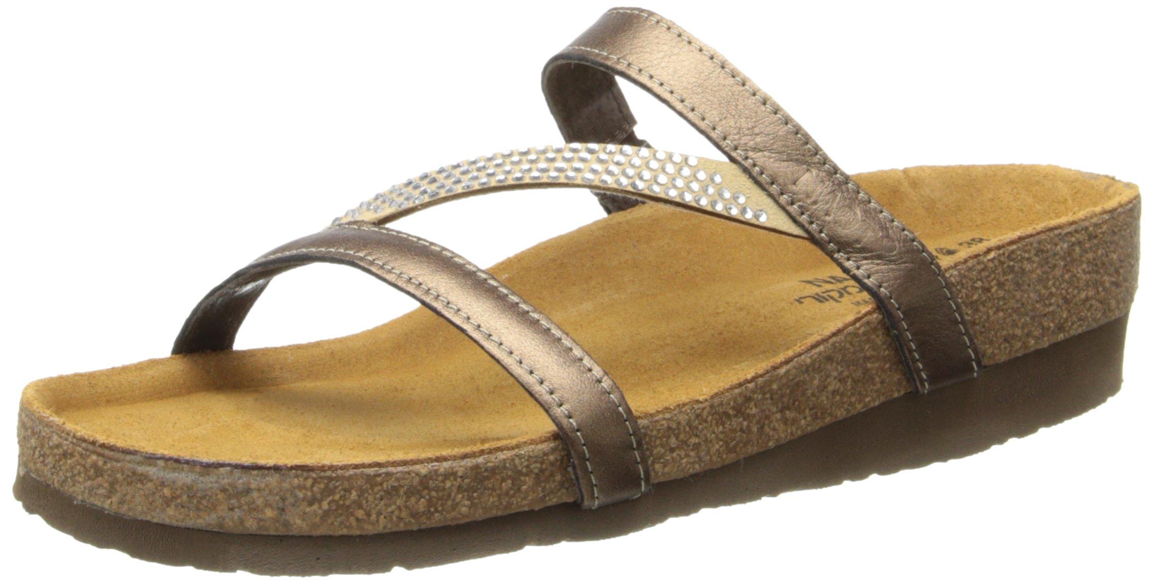 Naot Women's Hawaii Wedge Sandal, Grecian Gold Leather, 39 EU/7.5-8 M US by NAOT