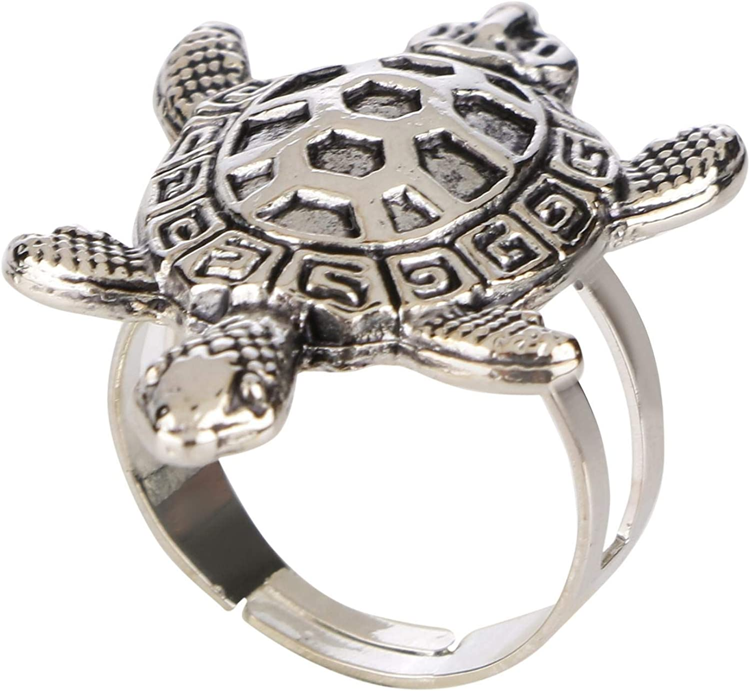 TRENDY MARCASITE TURTLE 925 STERLING SILVER RING SIZE 5-10