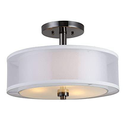 on sale f41d5 dd5ec Hardware House 22-3997 El Dorado Semi Flush Mount Light Fixture
