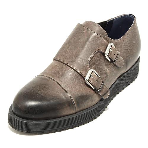 2065G scarpa antracite UNO 8 UNO 181 calzatura doppia fibbia uomo shoes  men  Amazon.it  Scarpe e borse a2834f4ed39