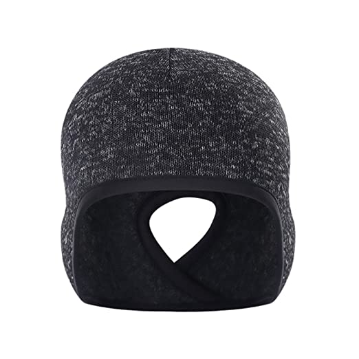 Outdoor Ponytail Cation Fleece Running Hats Windproof Ear Protection Winter  Warm SKi Caps Hiking Cycling Cap at Amazon Women s Clothing store  0114dc71820