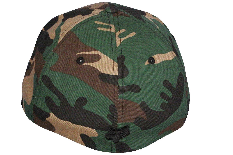 f91ee9e3300 Fox Head Medium Curve Flexfit Cap ~ Flex 45 camo  Amazon.co.uk  Clothing