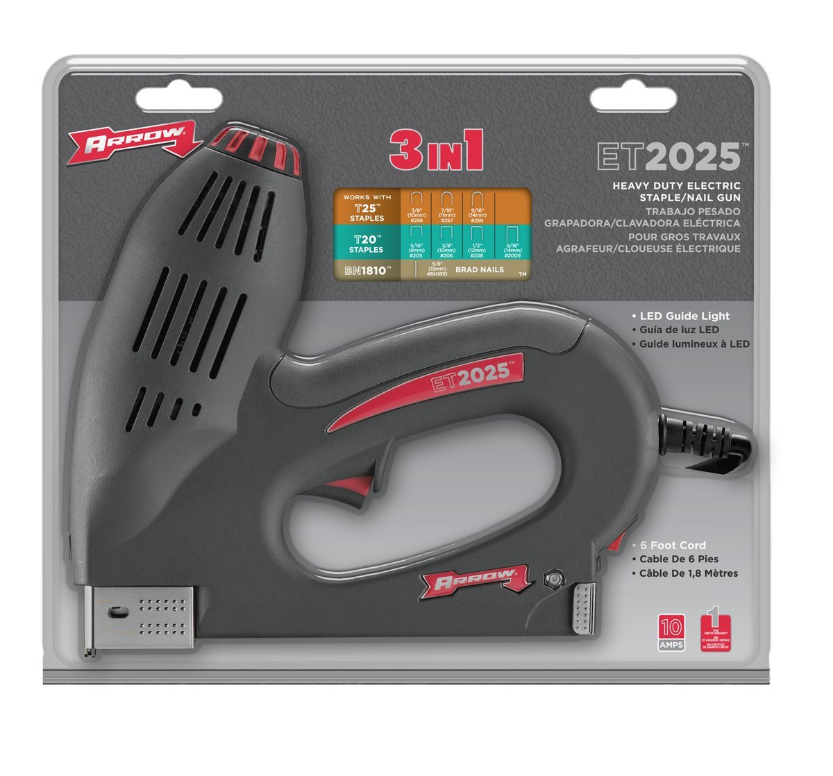 Buy Arrow ET2025D 3-In-1 Electric Staple Gun Online at Low Prices in ...