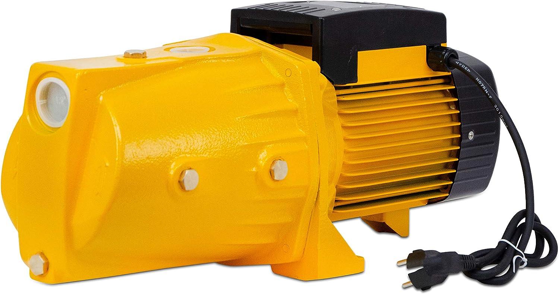 AgoraDirect Tiefe 50m Max 2850RPM 1,2 5.58m3//h Messinglaufr/äder Elektrokabel 85cm Gusseisen IPX4 Wasserpumpe Garten Gartenpumpe 1100W