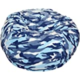 Ahh! Products Camouflage Anti-Pill Fleece Blue Washable Large Bean Bag Chair