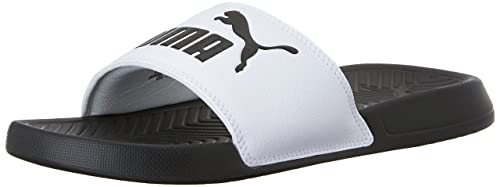 400f9a92719 PUMA Men s Popcat Slide Sandal Black White  Puma  Amazon.ca  Shoes ...