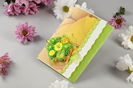 Image Unavailable Not Available For Colour Beautiful Handmade Greeting Card Scrapbook Design