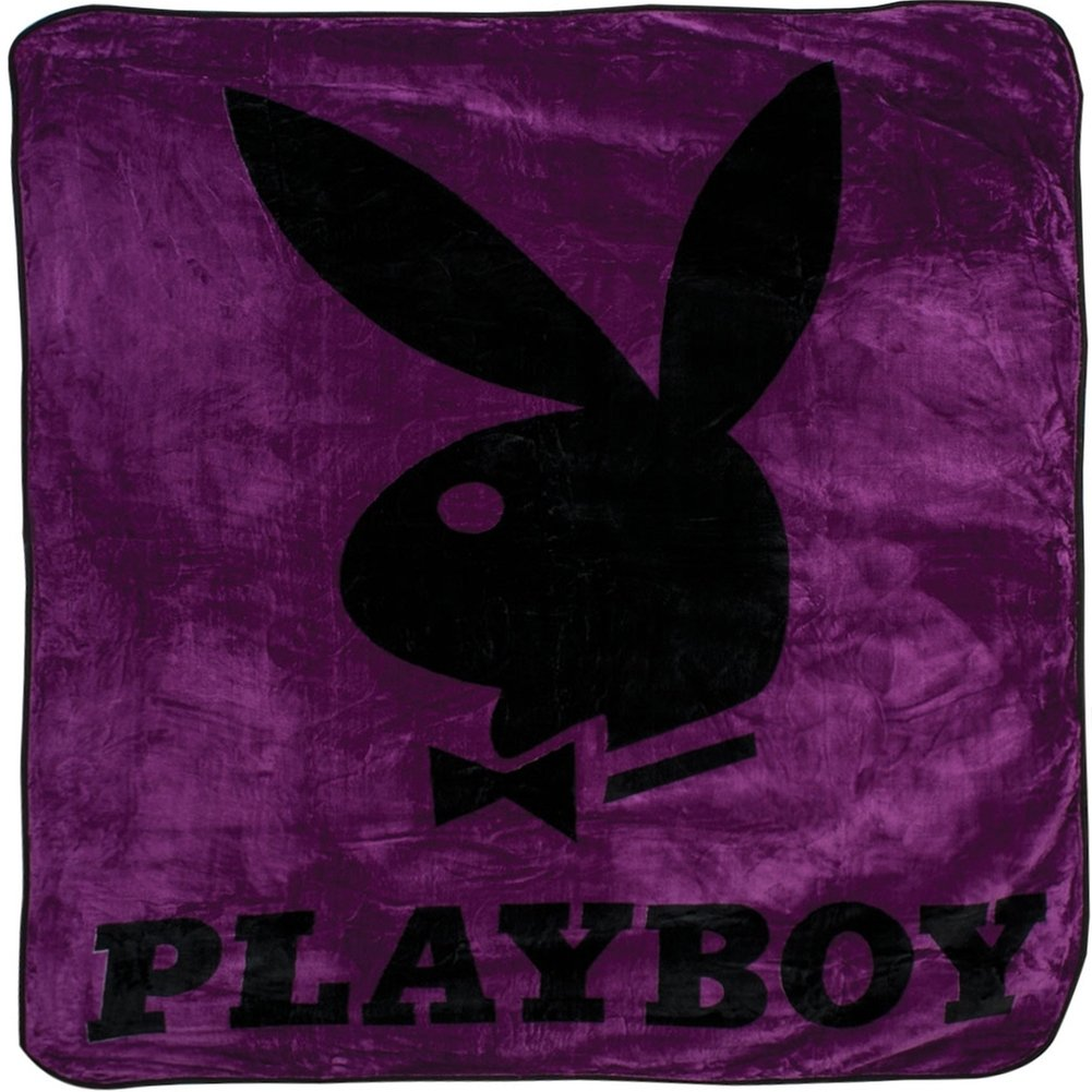 Playboy Bunny Purple Blanket