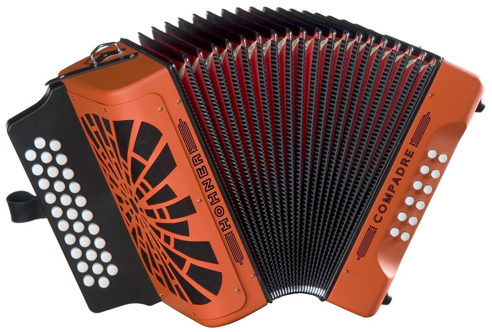 Hohner Compadre GCF Accordion, Orange by Hohner Accordions