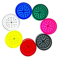 PLASTIC HERB AND TOBACCO MAGNETIC GRINDER 3 PART ASSORTED (GREY)