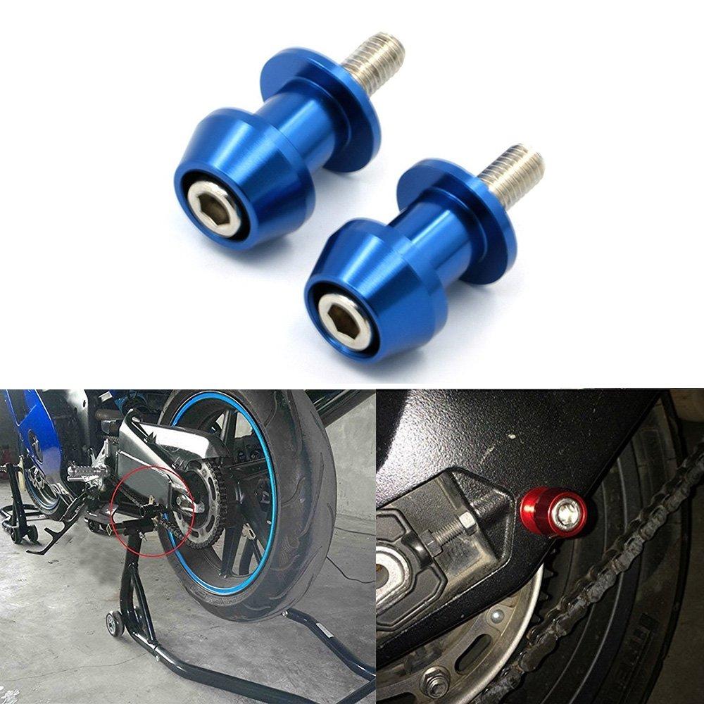 ViZe Diabolos Moto Vis de Support pour Motorcycle Street Bike Quads Argent, 10mm