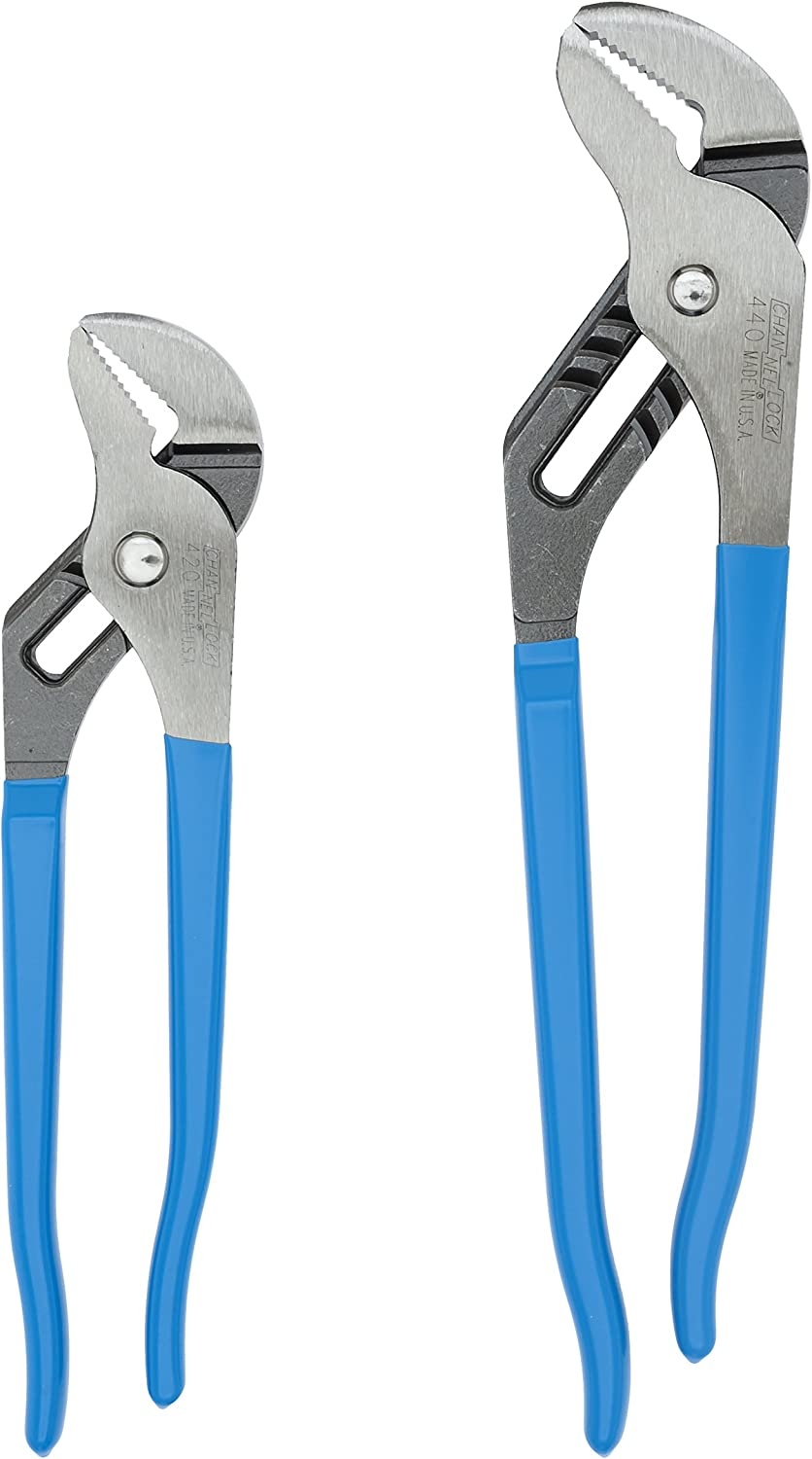 Channellock TG-1 2 Piece 9-1/2-Inch and 12-Inch Tongue and Groove Plier Gift Set
