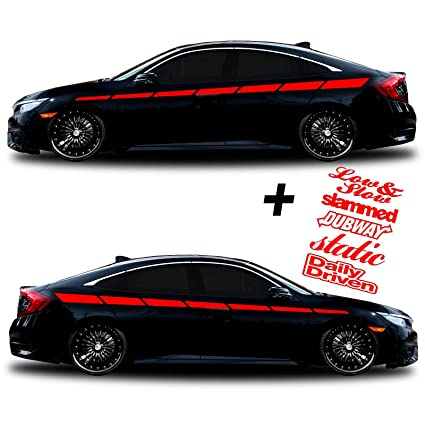 SG MOTIV Vinyl body Side Graphics Racing stripes car truck sticker decal  Universal 126 + Decals Dub way, slammed, Static, Low & slow, Daily Driven