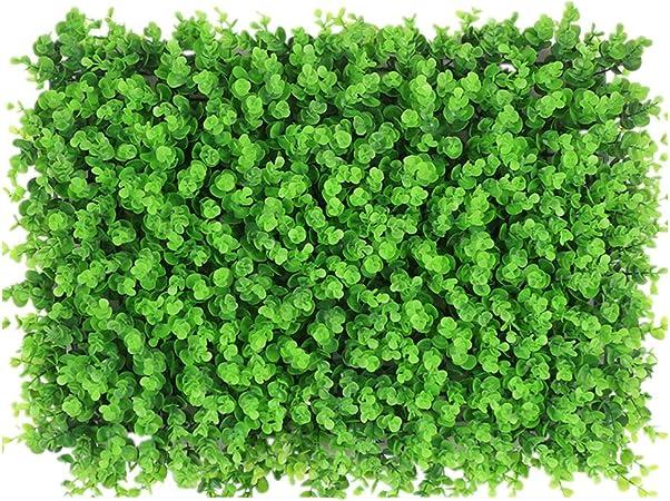 WyaengHai Seto Artificial Decorativa Valla De Jardín Jardín De Plantas Seto Artificial UV Privacidad Panel De La Pantalla Interior Y Exterior Recortar 12 Paneles de boj Artificial: Amazon.es: Hogar