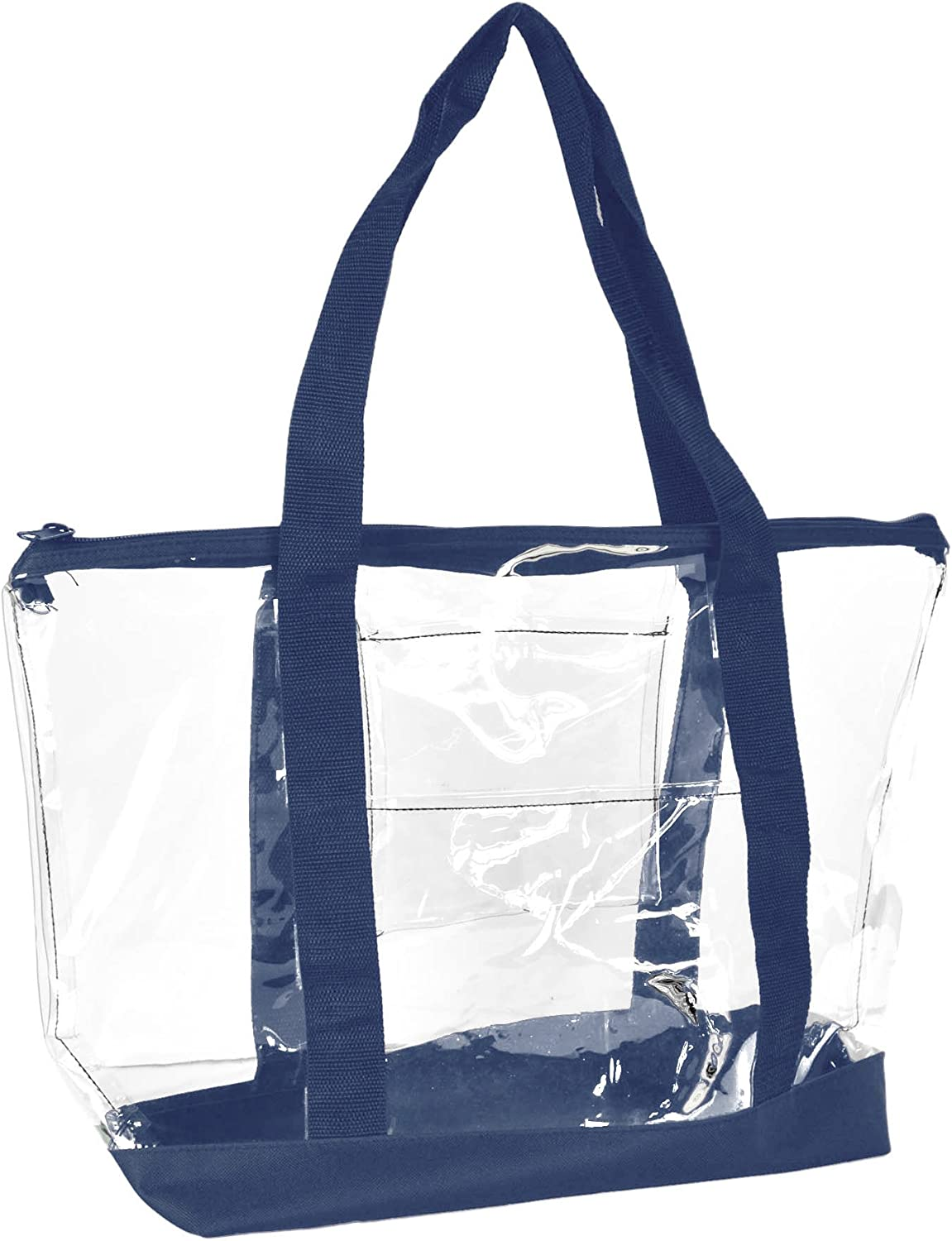 DALIX Clear Shopping Bag Security Work Tote Shoulder Bag Womens Handbag