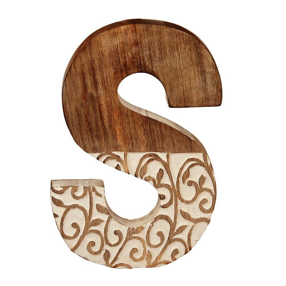aheli Alphabet Wooden Letter Party Wedding Decoration Wall Decor Sign - Letter S