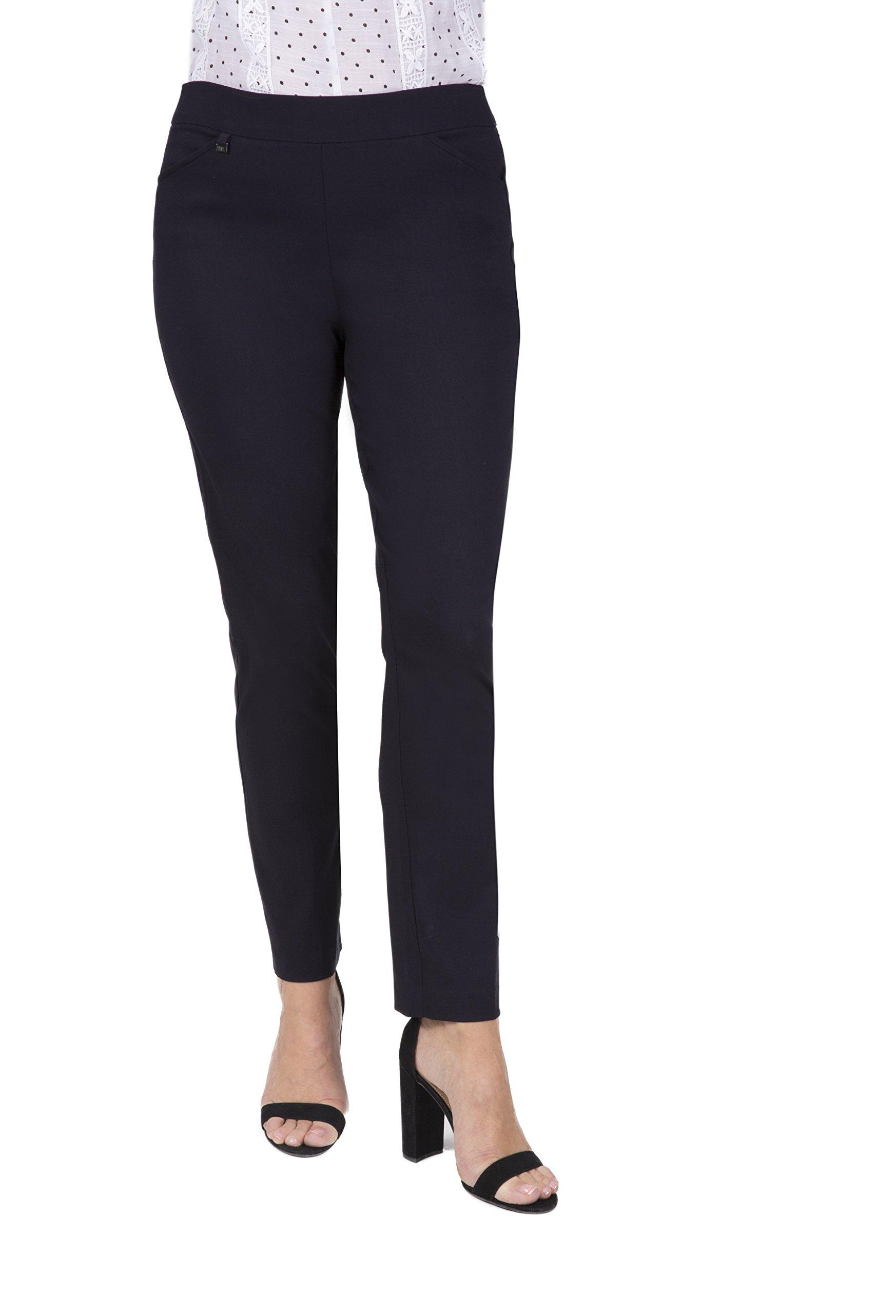Fundamental Things Women's Tummy Control Slim Leg Pull-on Pant Charm Detail