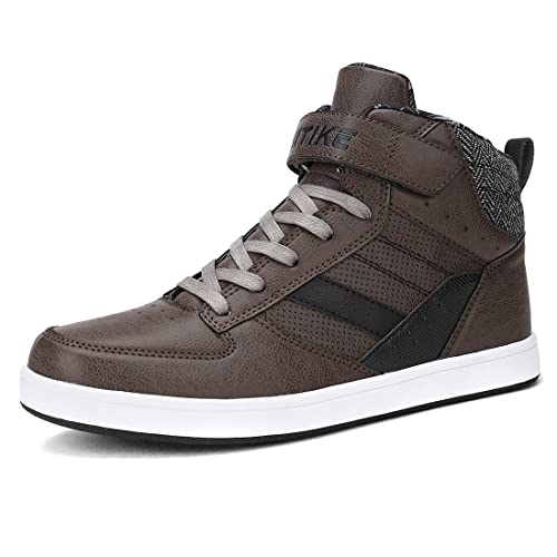 VITIKE Baskets Mode Mixte Adulte Boy Sneaker Baskets Bottines Leather Baskets Montantes