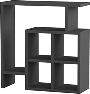 Ada Home Décor Smith Side Table, 22'' x 22'' x 8'', Anthracite